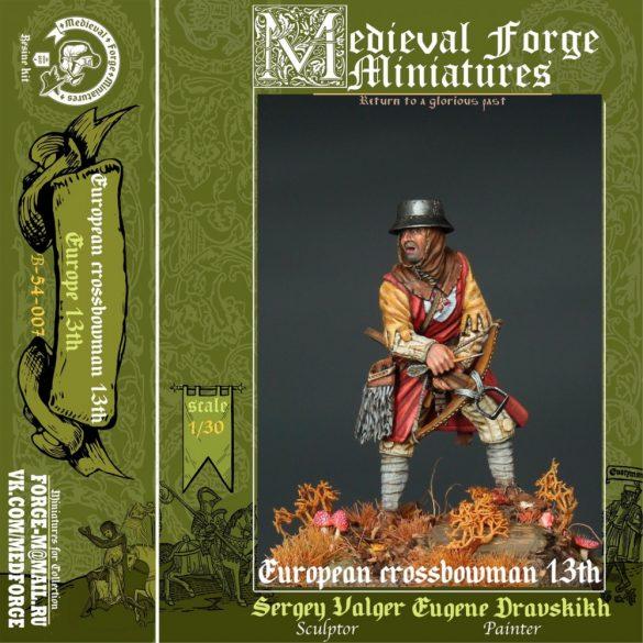 European crossbowman of the 13th century