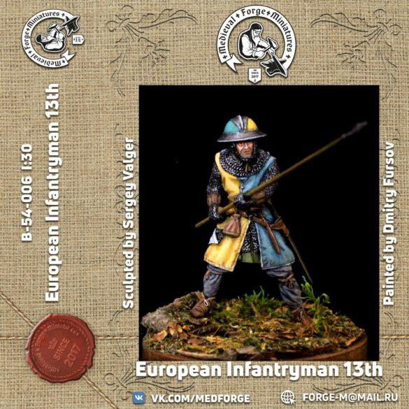 European infantryman of the 13th century