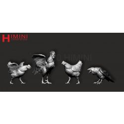 Set of birds for 75mm figures Vol. 2